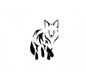 Walking fox wallpaper