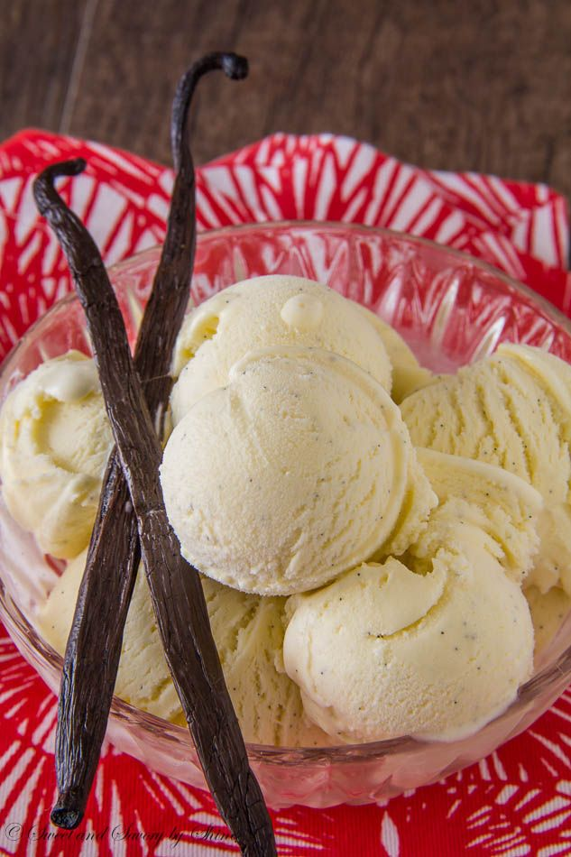 Velvety smooth, creamy and absolutely delicious homemade ice cream studded with tiny black vanilla beans. You will never buy ice cream from the store again!