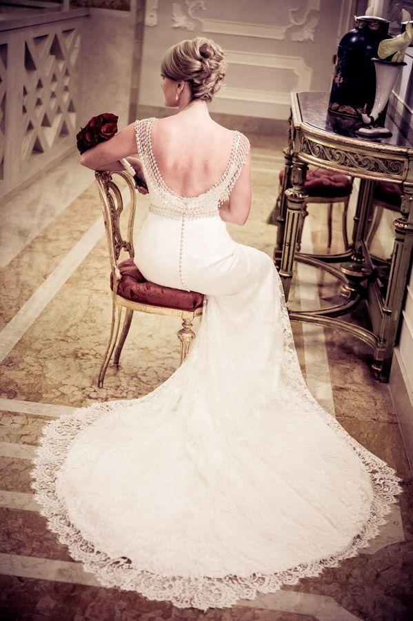 Gorgeous back shot for a bridal portrait Love the hair