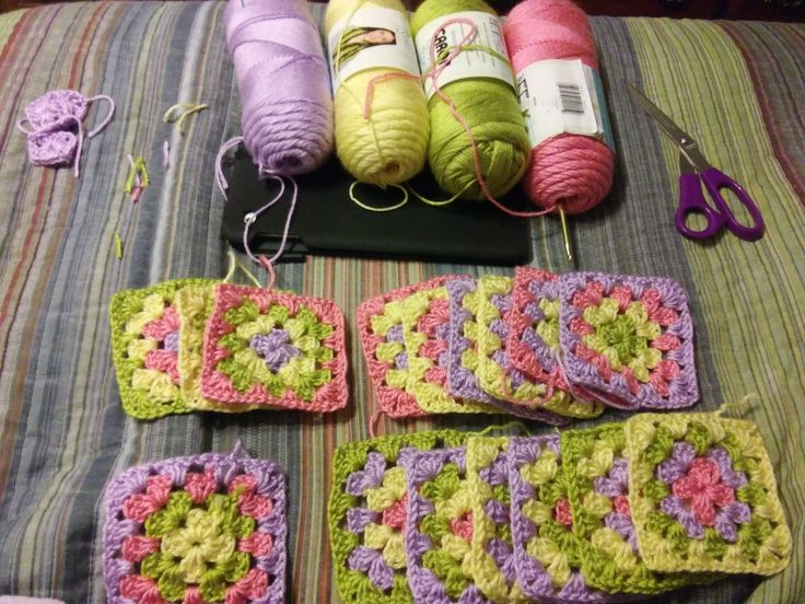Project in the works! Soon to be a granny square baby blanket!