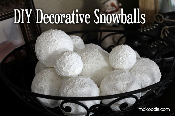 DIY winter decorative snowballs