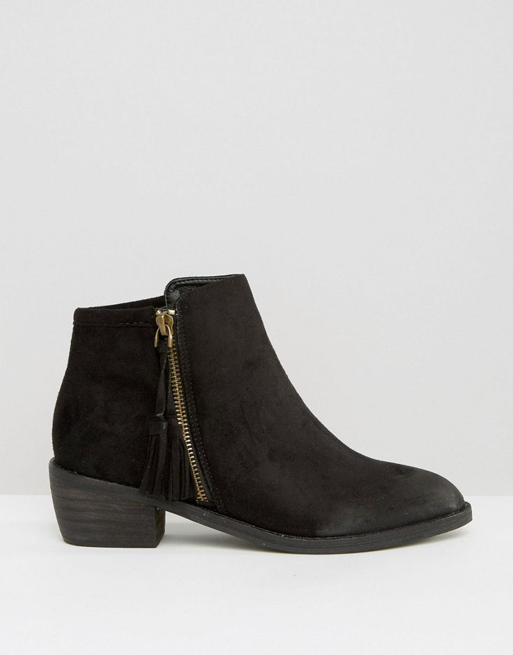 Top 25  best Flat Black Ankle Boots ideas on Pinterest