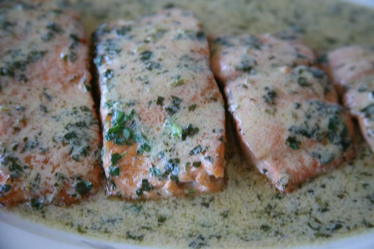 Just wanted to share this delicious recipe from Lidia Bastianich with you - Buon Gusto! SALMON WITH MUSTARD SAUCE