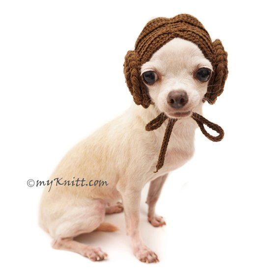 Princess Leia Dog Wigs Dog Hats Dog Hats Winter Dog Hat Crochet