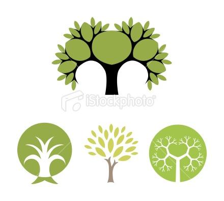 Tree - vector symbols Royalty Free Stock Vector Art Illustration