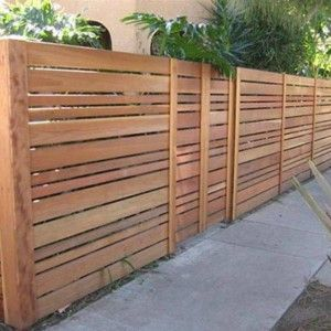 Horizontal Wood Fences , Horizontal Wooden Fences In Landscaping And Outdoor Building Category