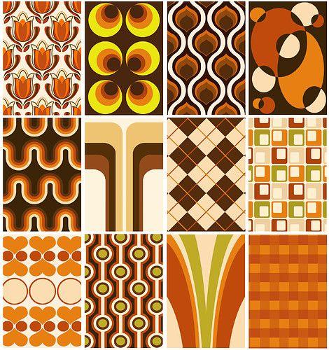 70er Jahre Muster für Tapete, Stoffe ...einfach alles!!! Unsere Wohnung war voll damit. Meine Mutter liebte Orange .... Horror!