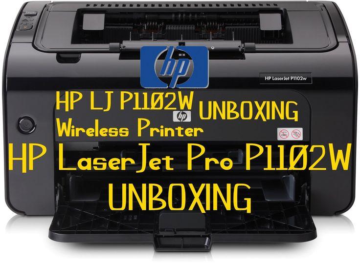 HP LaserJet Pro P1102W Wireless Printer Unboxing Review