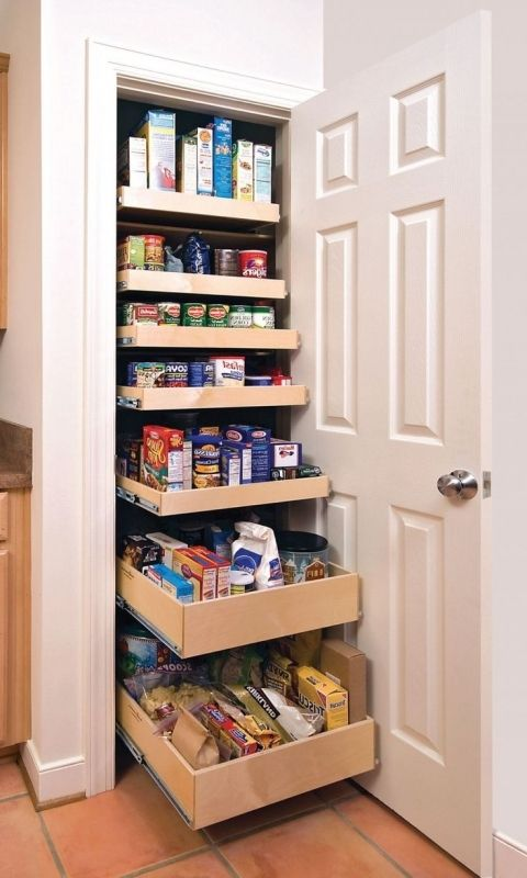 17 best ideas about small pantry closet on pinterest for Pantry ideas for a small kitchen