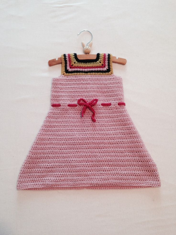 Dress for a 1 year old. ~crochet ~drops cotton merino