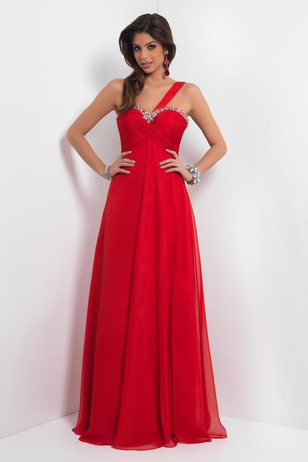 vestido de noche rojo