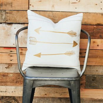 Goods by Grinn- Gold Arrow Pillow. Amazing.