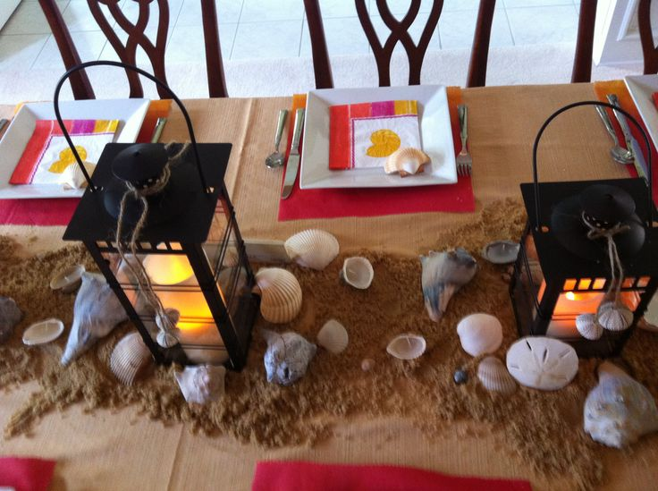 Beach table decorations