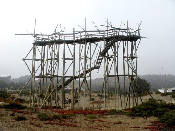 Structure in Ciudad Abierta, Ritoque, Chile