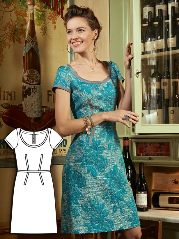 This dress pattern looks beautifully cut. BurdaStyle.com