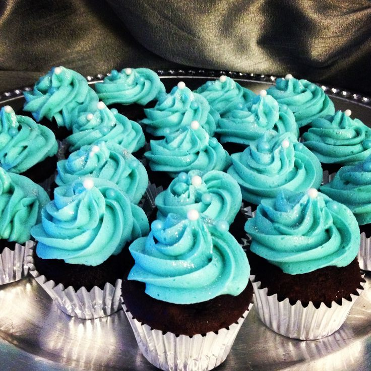 Chocolate Tiffany Blue cupcakes! Desserts by The Sugar d ...