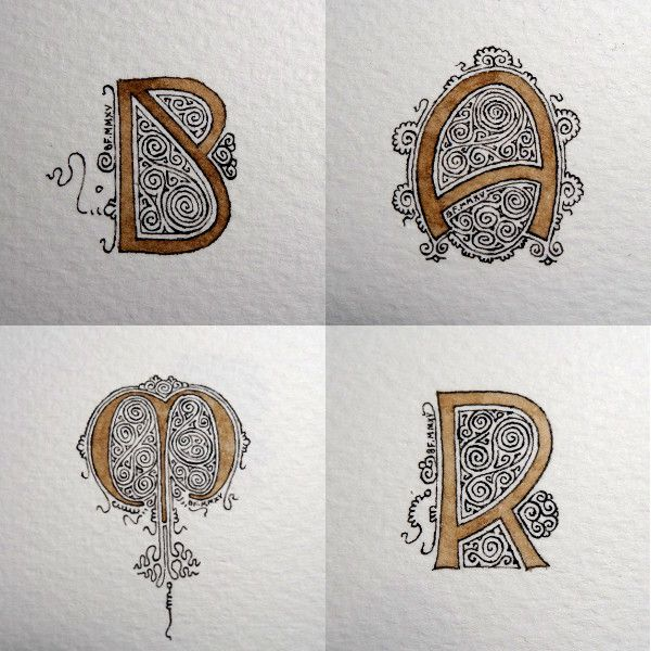 Anachropsy - Calligraphie latine par Benoit Furet - On s'occupe comme on peut