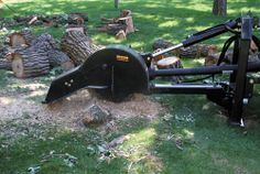 Compact Tractor 3-Point Stump Grinder - Erskine Attachments, Inc.