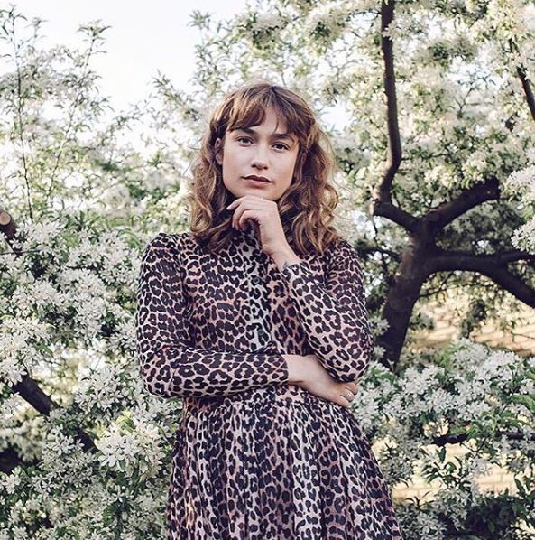 Ganni street style | Isabel Röden | Peirce Mesh Maxi Dress