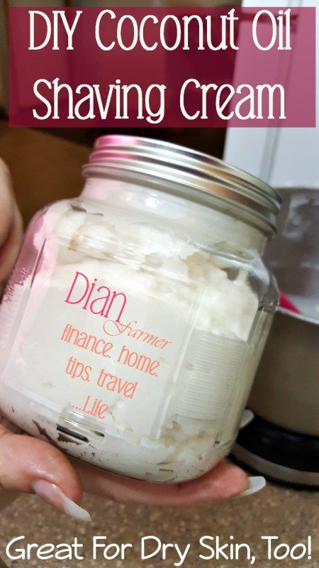 DIY Coconut Oil Shaving Cream