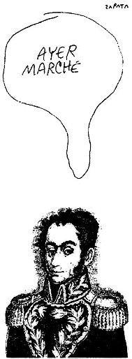 Caricatura de Zapata en la página de Opinión. Caracas, 11-04-2002. Edición aniversaria 2013  (PEDRO LEON ZAPATA / EL NACIONAL). Publicada: 12-04-2002. Cuerpo A-8