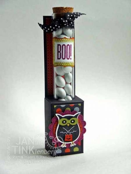 Halloween Test Tube Holder by JanTInk - Cards and Paper Crafts at Splitcoaststampers