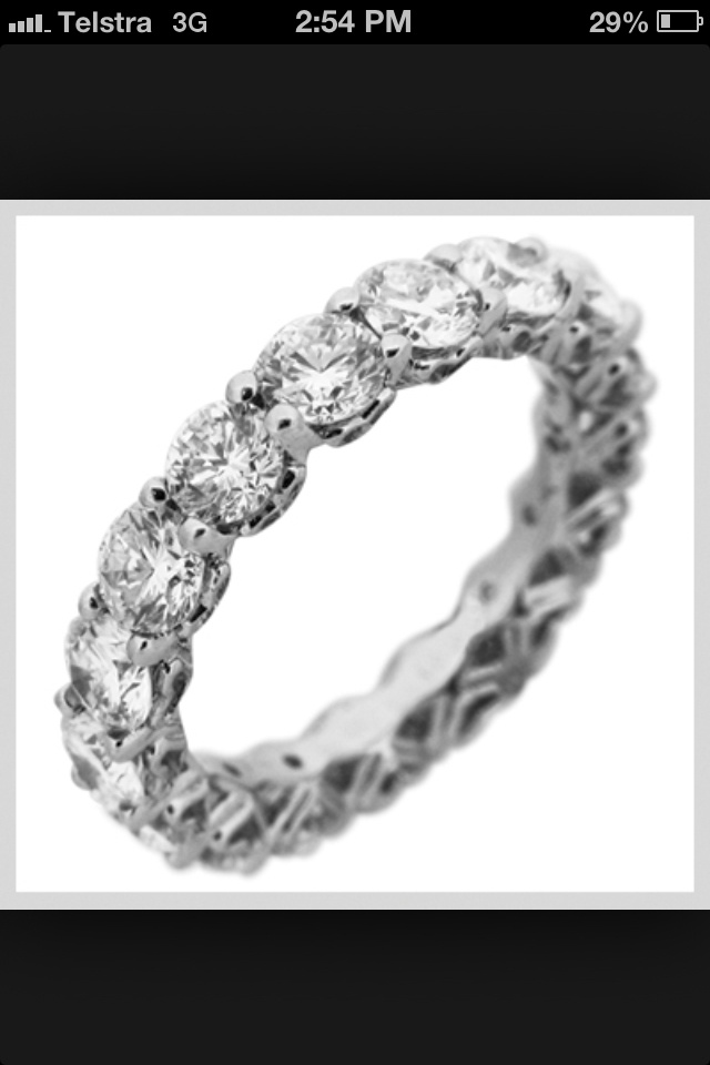 This would be what the special ring made from Jo's tennis bracelet looks like