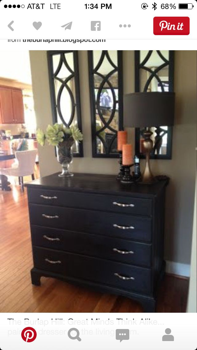The Burlap Hill Great Minds Think Alike Painted Dresser For Living Room LOVE Three Mirrors