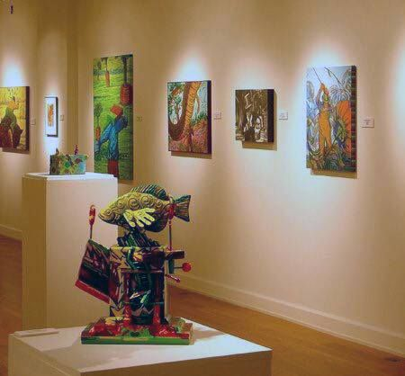 The work of Ohio Northern University Alumnus Harry Melroy (BA '71) is now on view at the Findlay Art League gallery. The exhibition of his paintings and 3D work closes on July 2.