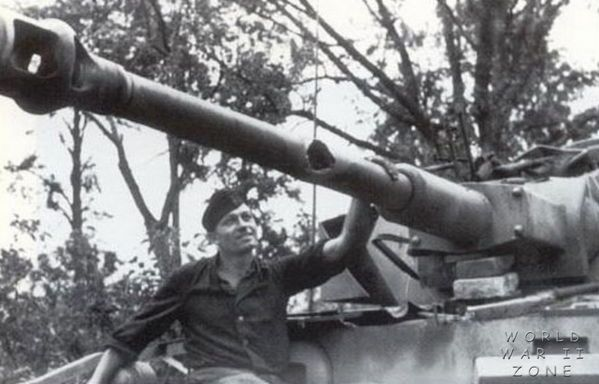 A Panzer IV in need of a new gun barrel