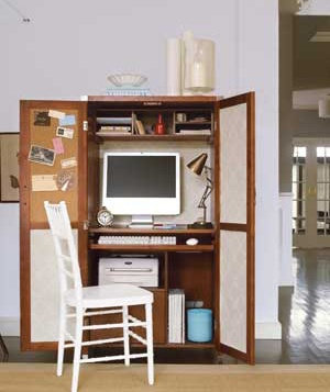 For Small Spaces / Dorm Rooms. Work Station Is Placed