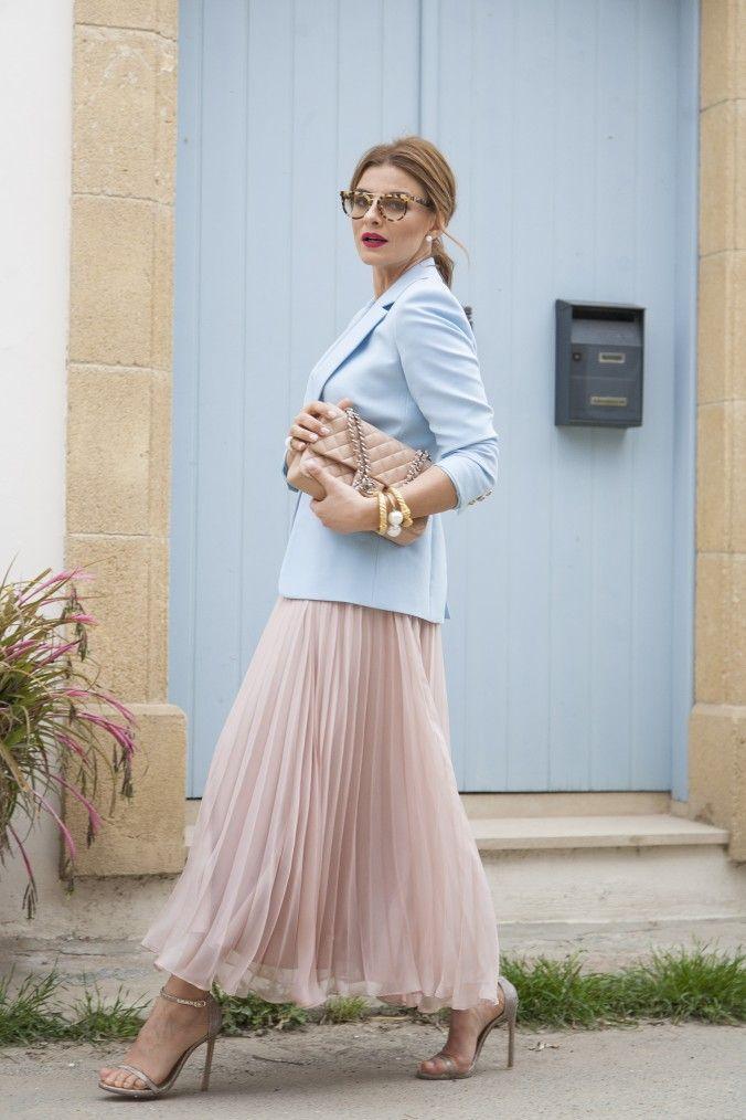 Skirt : Ramon Filip Blazer: Emilio Pucci Jewelry : Nikos Ioannou Shades: Prada @ Theofanides Optical House Sandals : Stuart Weitzman Bag : Chanel