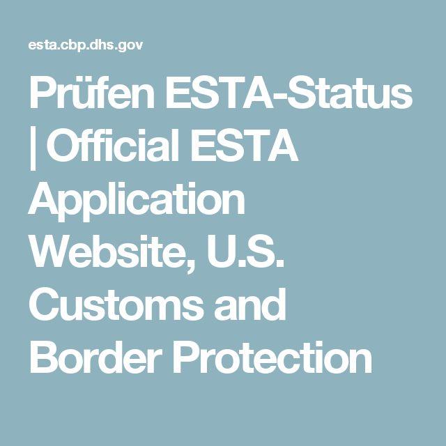 Prüfen ESTA-Status | Official ESTA Application Website, U.S. Customs and Border Protection