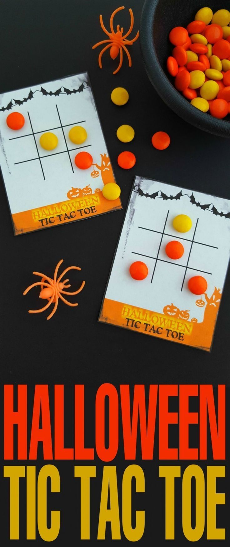 These free printable Halloween Tic Tac Toe cards are super fun and just the right amount of spooky, don't you think? Print them off and package them up with candy for a fun classroom treat or simply print off and enjoy playing at home!