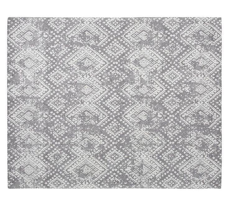 Zahara Synthetic Rug - Grey