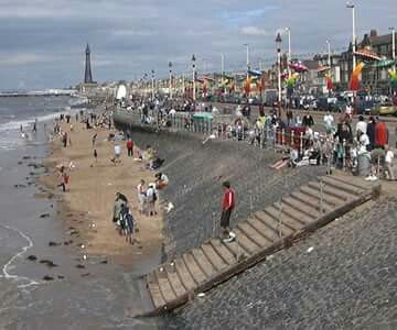 Old Blackpool seafront