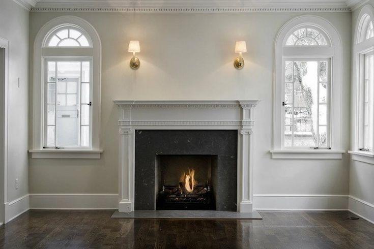 Dark Hardwood Home Fireplace