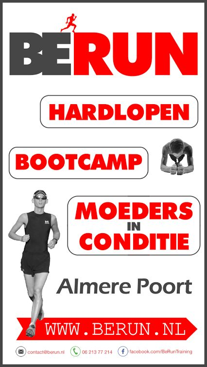 Hardlopen in Almere Poort, Bootcamp in Almere Poort, Fit worden in Almere Poort... Het kan bij BERUN Training!  www.berun.nl
