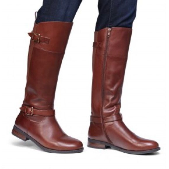 Vionic Brown Riding Boots Beautiful pair of brown leather rising boots. They run true to size in my opinion. I love the double strap and Vickie detail. VERY comfortable. Brand new. Vionic Shoes