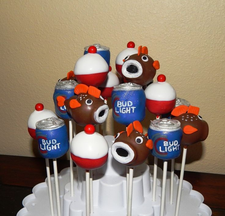 Goin Fishing Bud Light Cake Pops