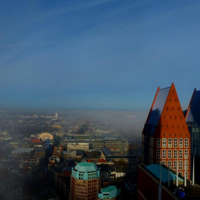 Uitzicht de Kroon met mist!