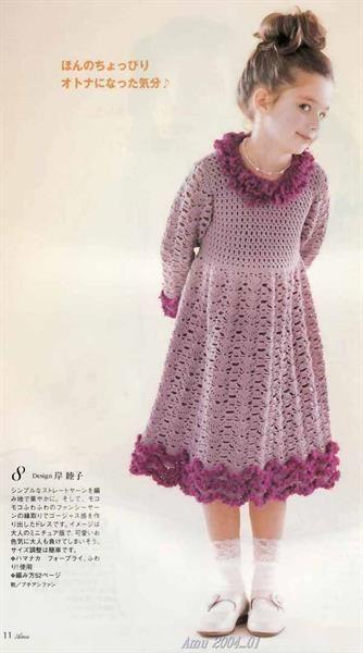 Вязанное платье девочке