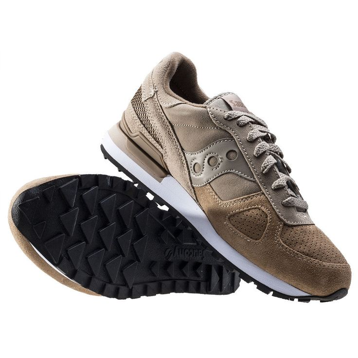 Saucony Shadow O Suede Mens Trainers Beige Brown New Shoes | eBay
