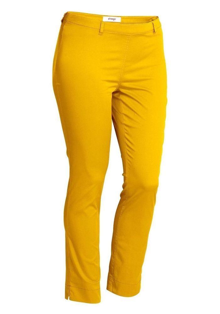 Sommer 7/8 Hose Stretchhose von Sheego in Gelb Größe 104 (52 Langgröße)(455901) | eBay