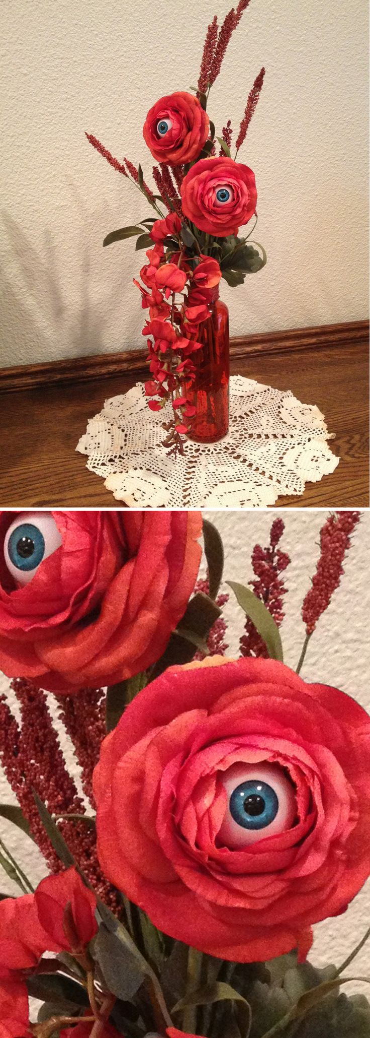 INSPIRATION - Creepy Eyeball Flowers - blue eyes (No specified source)…