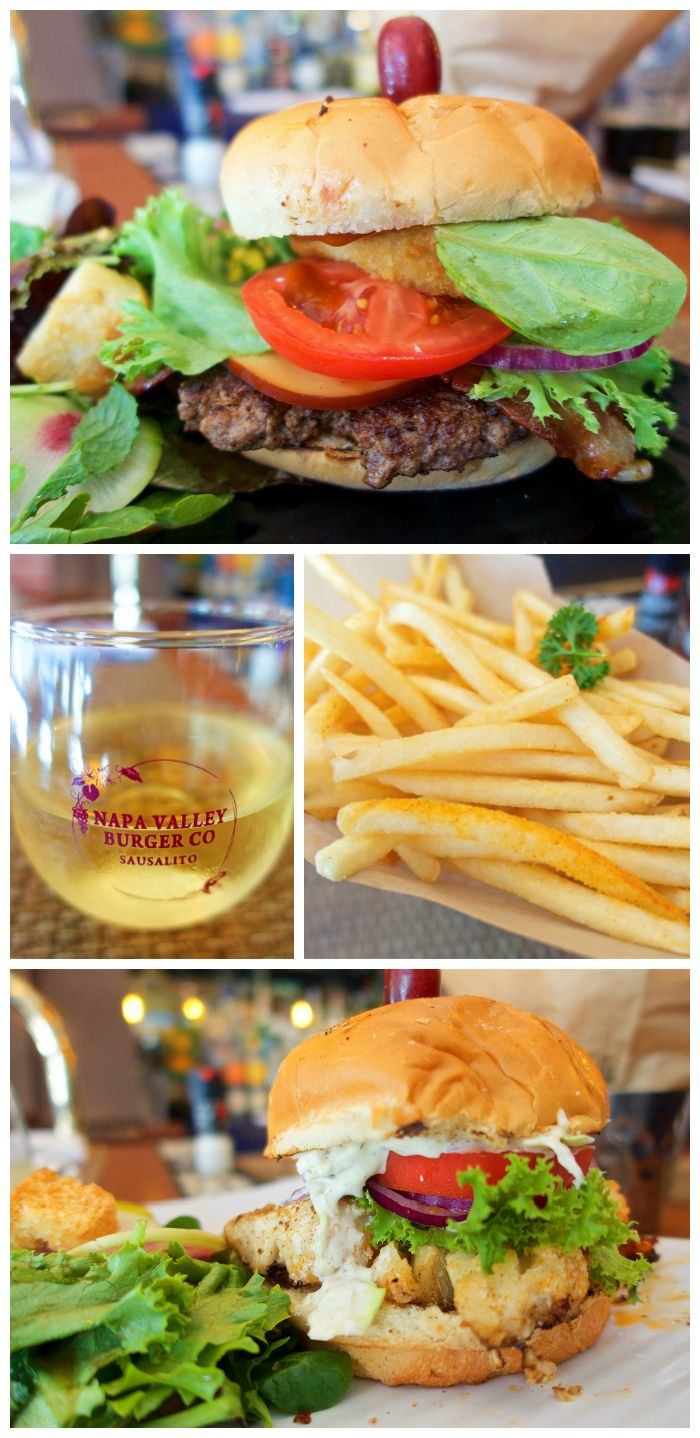 Napa Valley Burger Company in Sausalito, CA - fantastic food! Take the ferry over from Pier 39 and enjoy!