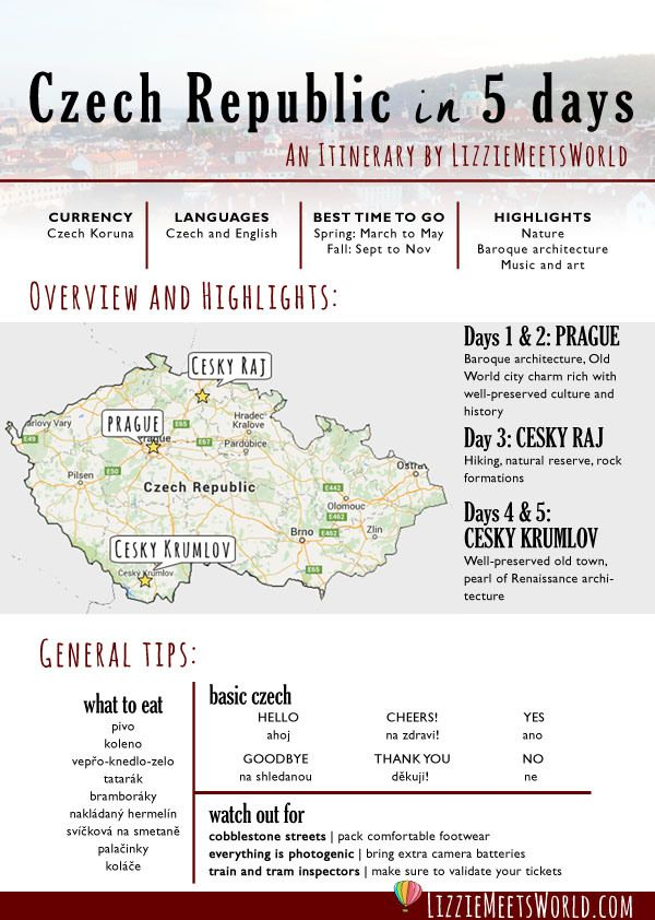 Czech Republic in 5 days: An Itinerary by LizzieMeetsWorld