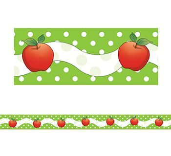 Apples and Dots Straight Border Trim