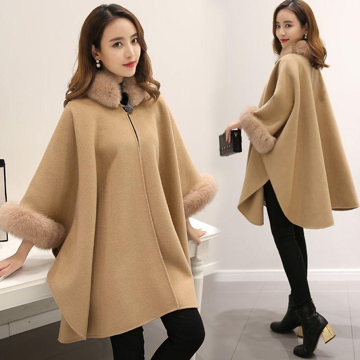 2016 Европейская зима новый искусственный мех лисы в длинной шерсти пальто плащ платков шерстяное пальто темперамент v391