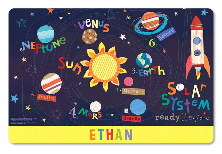Outerspace Personalized Placemat